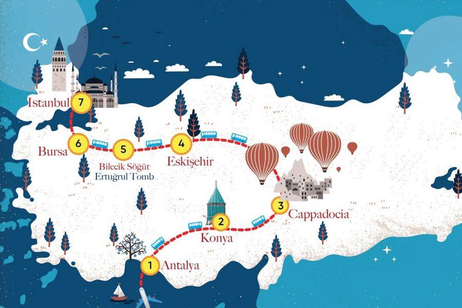 Muslim holidays - Tour Map